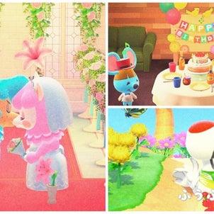 【あつ森】ジューンブライドとリッキー誕生日の画像