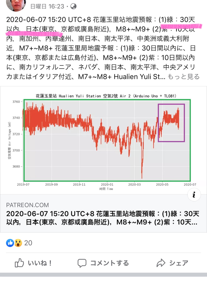 予想 地震