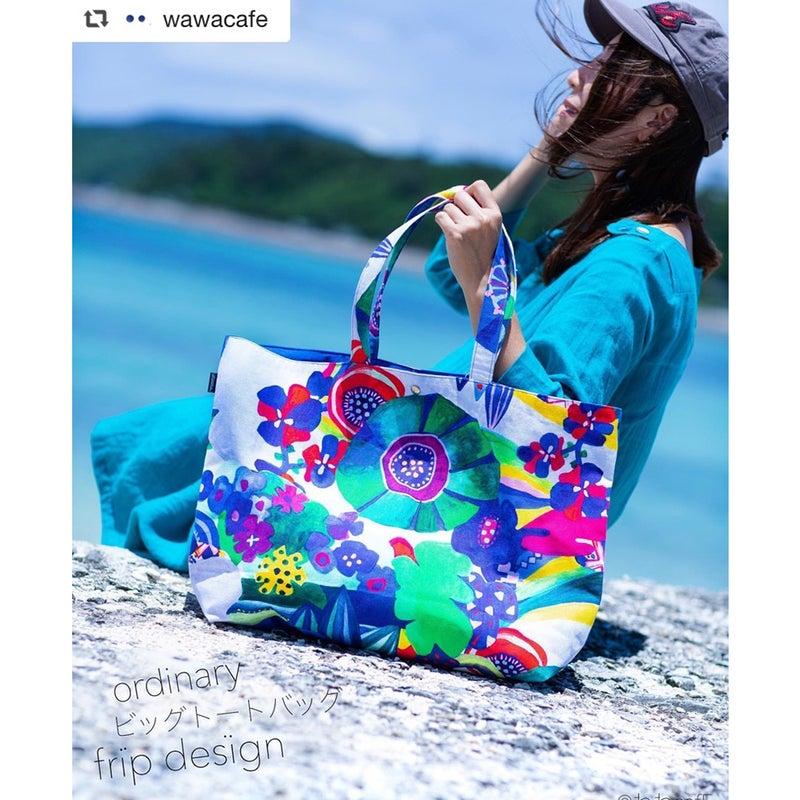 fripdesignトートバッグ、沖縄の海で映えてます!!