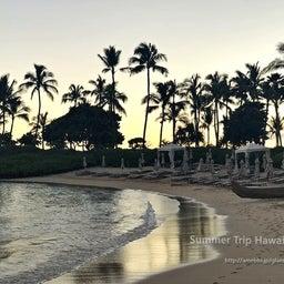 画像 【アウラニ・ディズニー】サンセット後のビーチとプールも素敵でした! の記事より 7つ目