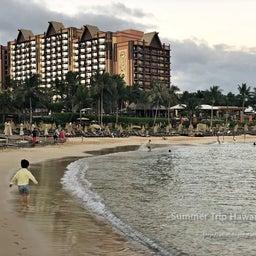 画像 【アウラニ・ディズニー】サンセット後のビーチとプールも素敵でした! の記事より 3つ目