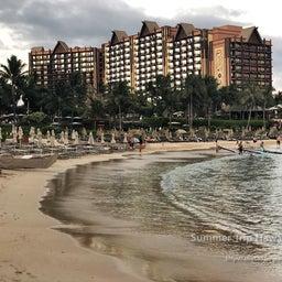 画像 【アウラニ・ディズニー】サンセット後のビーチとプールも素敵でした! の記事より 2つ目
