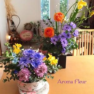 花から元気をもらい幸せになるの画像