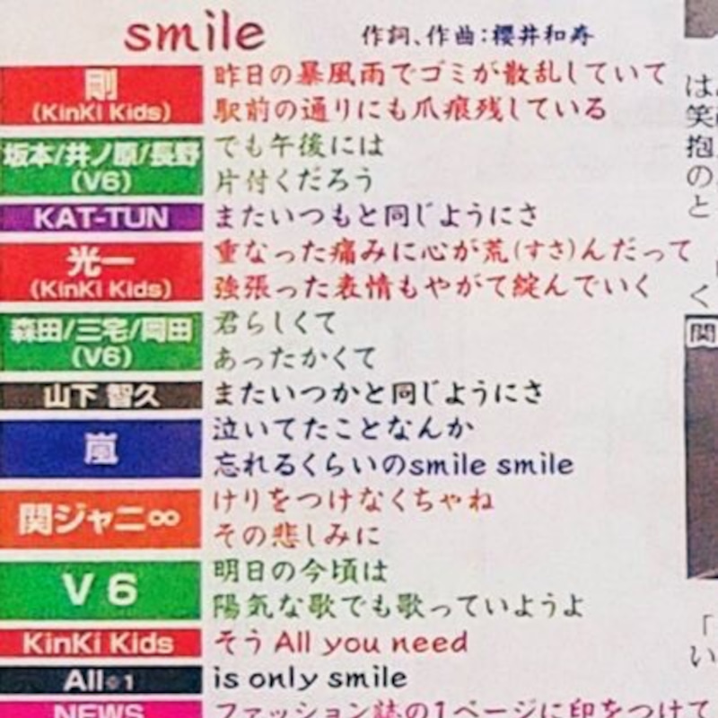 歌詞 トニトニ smile