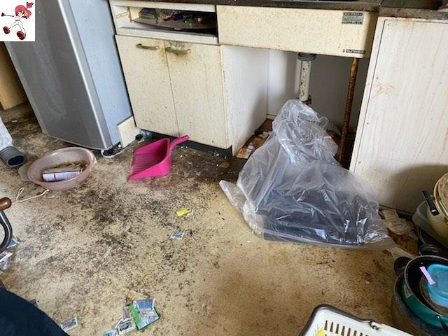 汚部屋清掃で、綺麗に長年の汚れをスッキリ(ビフォーアフター)名古屋市中心に汚部屋清掃