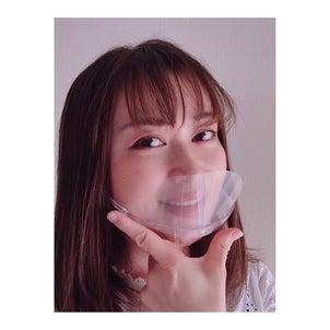 夏におすすめしたい透明マスクの画像