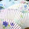 婦人用扇子2020・6種|ふわっとした優しい印象の雲竜紙を地紙に使用したちょっと贅沢な京扇子。の画像