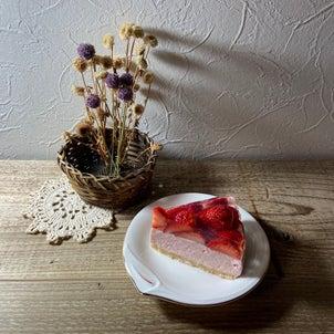 いちごのケーキを作りましたの画像