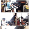 オンラインピアノコンクールのビデオ撮影の画像