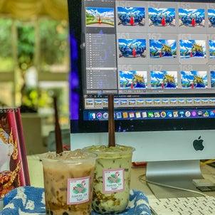 タピオカドリンクを「GrabFood」デリバリー@Flaming Tea Phuketの画像
