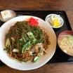 あさひや食堂(栃木県那須塩原市) 焼きそば&鶏肉の甘辛炒め定食