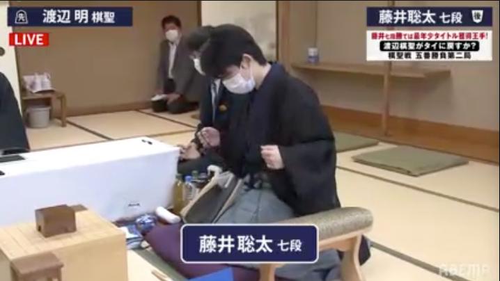 和服で登場!第91期棋聖戦五番勝負第2局 渡辺明棋聖 vs 藤井聡太七段 始まりました!