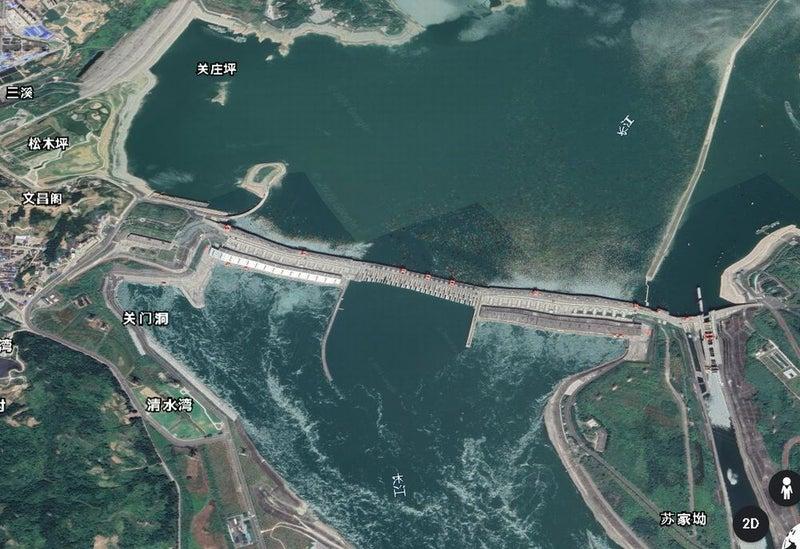 アース 三峡 ダム グーグル
