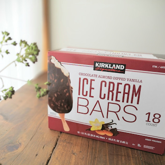 【コストコ】新発売!KSアイスクリームバーは1本で大満足♪食べごたえ最高だった!