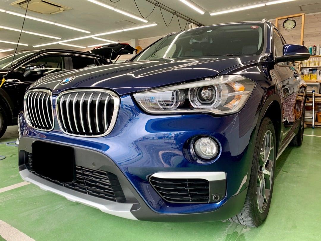 BMW X1 中古車 リアルガラスコート艶プラス施工