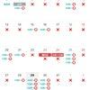 エステメニューと10月の予約可能日の画像