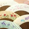 婦人用短地扇子2020・6種|手描き京扇子六寸五分|桔梗、紫陽花、椿、桜、撫子の画像