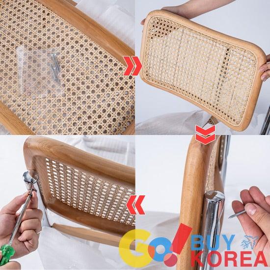 GoBuyKore アームチェア ラタンチェア 韓国インテリア 韓国購入代行