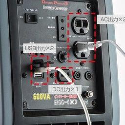 ナカトミ カセットボンベ式インバーター発電機 EIGG-600D