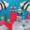 【ママのためのヨガ】7月の寝相アートは「海」。1年の変化も楽しみに。の画像