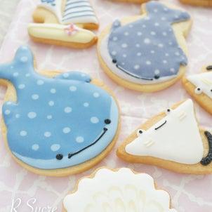 【開催日追加!オンラインレッスン募集】1時間でできちゃう♡マリンなアイシングクッキーの画像