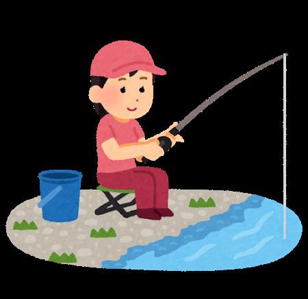 女性の釣り