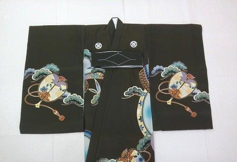 お宮参りの着物 黒