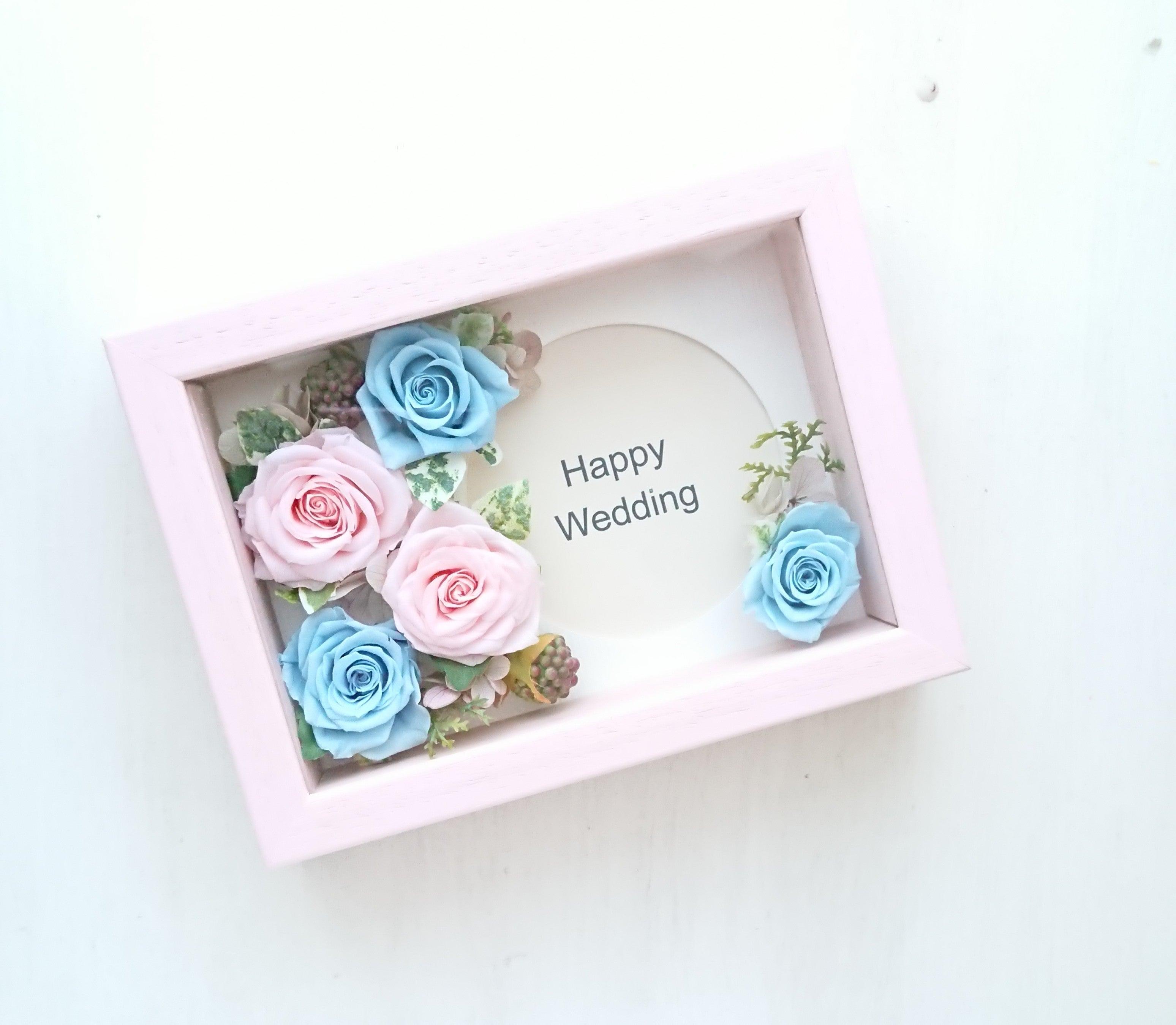 ピンク&ブルーローズは、Weddingギフトに人気です♪