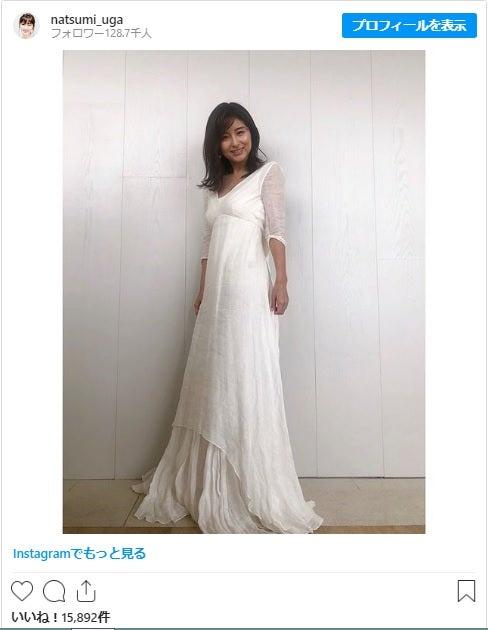 """宇賀なつみアナ、純白のドレスまとい夏を""""実感""""「こんなドレス着て ..."""