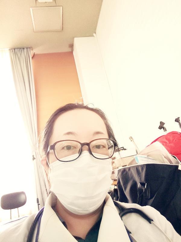 女医 眼鏡 マスク