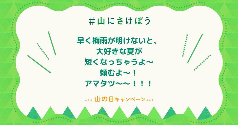 早く梅雨が明けないと、大好きな夏が短くなっちゃうよ~頼むよ~!アマタツ~~!!!
