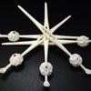 大変贅沢で美しい、宝石使いの手彫り象牙玉かんざし2020・4種+1種(再)|夏の装いにおすすめ、の画像
