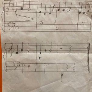 先生、楽譜書いたのーの画像
