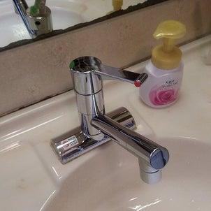 洗面化粧台の水栓 取替工事の画像