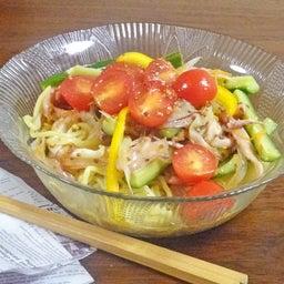 画像 焼豚とたっぷり野菜の胡麻ドレつゆかけ冷やし中華 の記事より 17つ目
