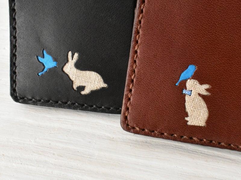 ウサギと小鳥のシルエット