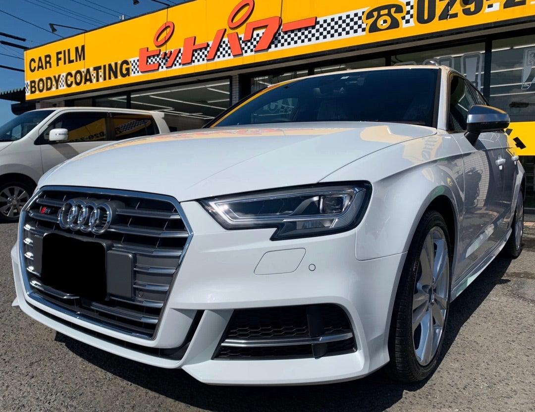 アウディ S3SB 新車 艶プラス 断熱フィルム アルミコーティング施工
