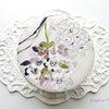 素敵なカルトナージュ×お花コラボ作品の画像