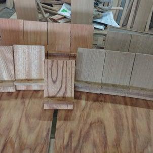 木材の携帯スタンドの画像