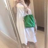 先日のコーデ♡白ワンピにgreenの記事画像