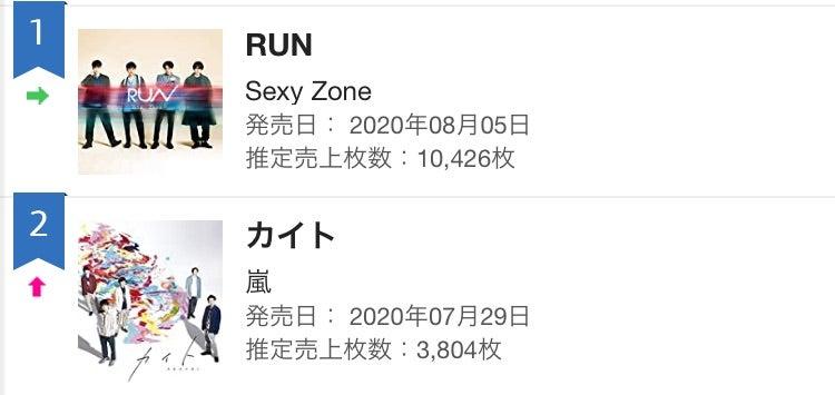 セクゾ run 売上 枚数