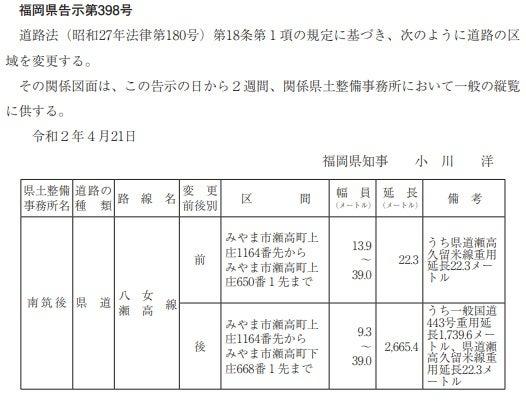 公報check特別編15(2020年4月) 後編 | 道徒然話