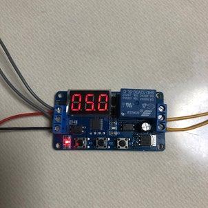 電気錠の遅延タイマーの画像