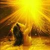 金の玉が空へ昇り金龍から白龍への画像