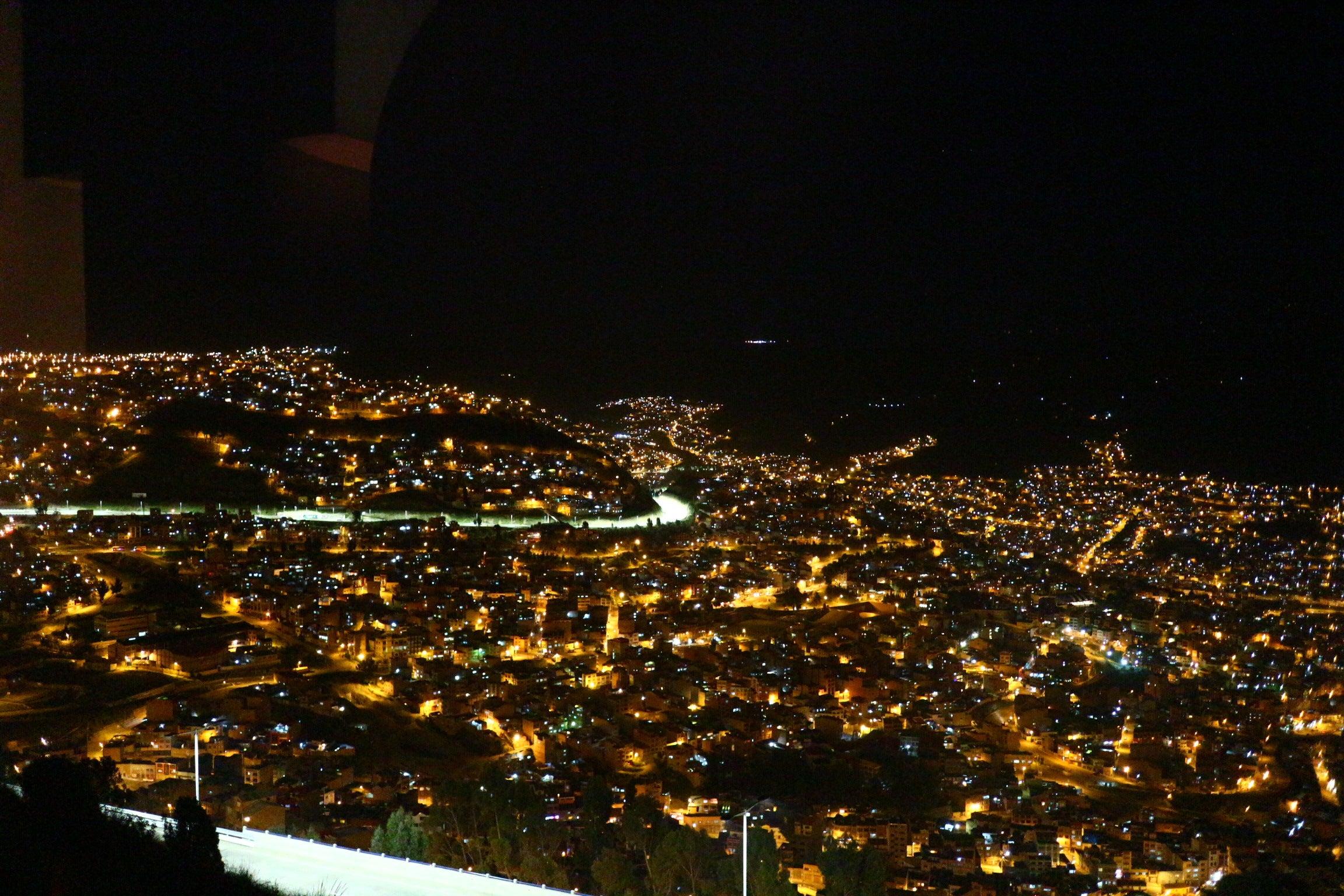 ボリビア・ラパス 夜景