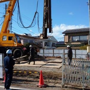 【新築】大田区案件:いま、建ててます ②杭工事の画像
