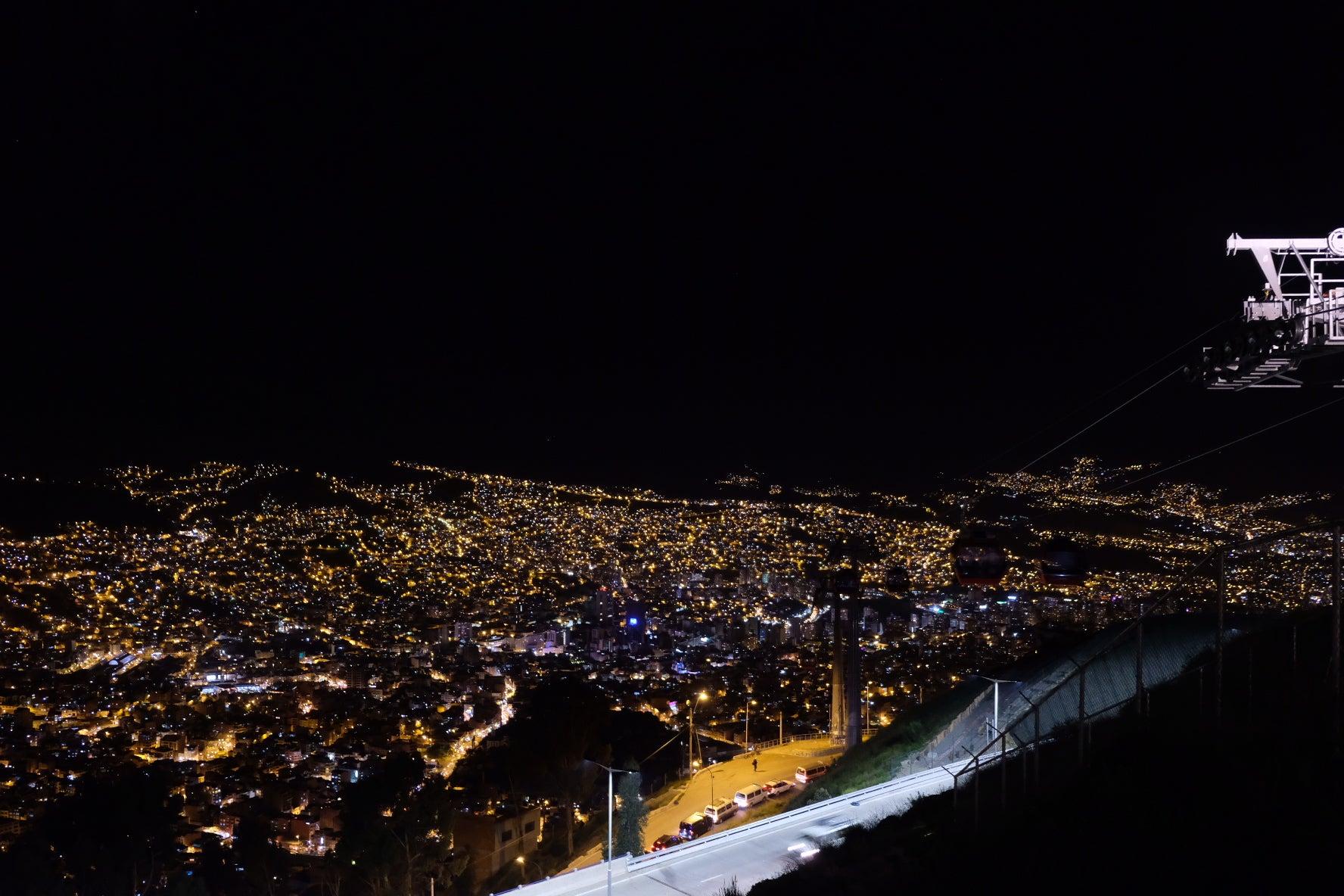 ラパスの夜景