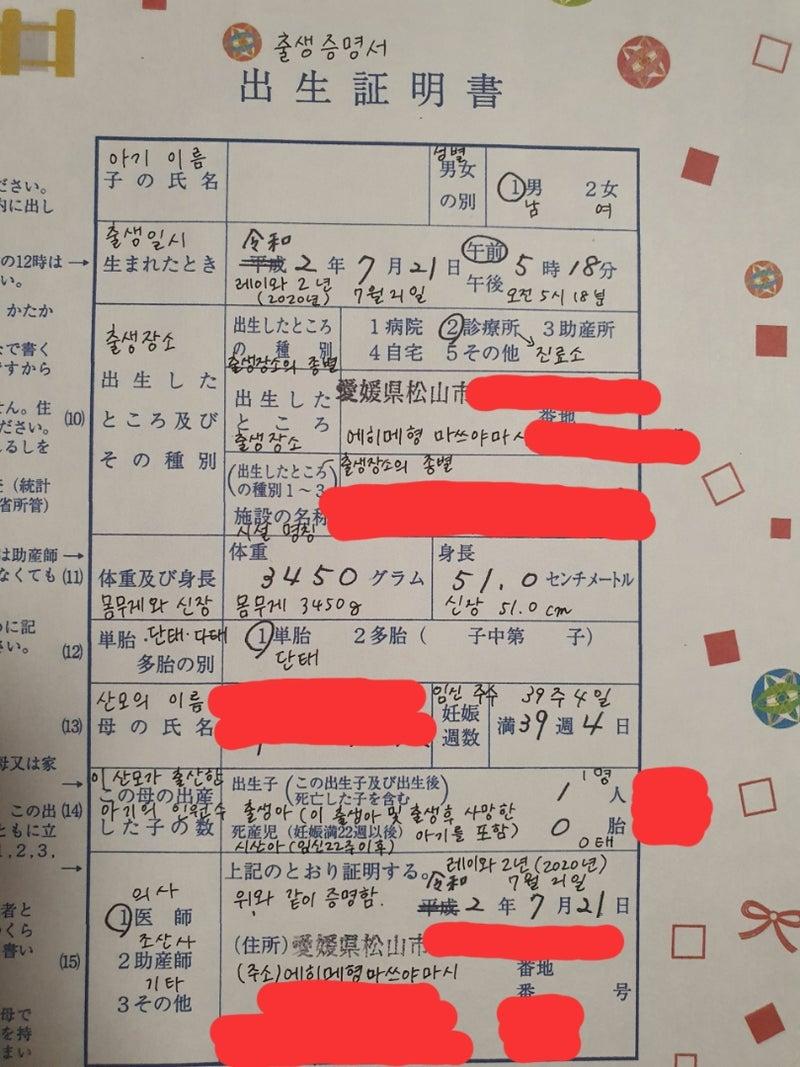 韓国で出生届を提出【日韓夫婦】 | あゆがたり~한일부부스토리 그리고 ...