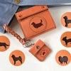 ■【犬のシルエット】カードが入る小さな革財布(ちび肉球コインケース付)Creemaにて販売開始!の画像