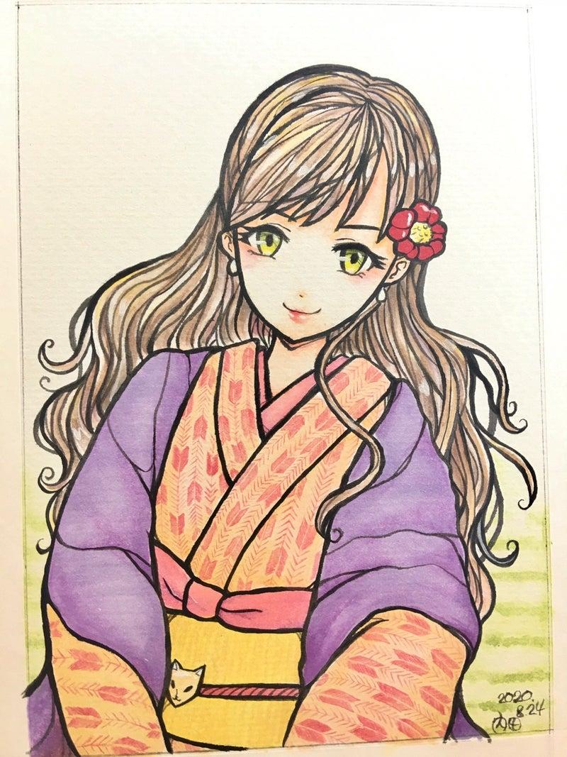 前 女の子イラスト 水彩色鉛筆など どん底から始めていこう